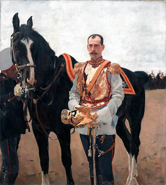 Portrait of Grand Duke Pavel Alexandrovich, 1897 | Valentin Serov | Painting Reproduction
