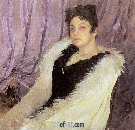 Portrait of Zinaida Moritz, 1892 | Valentin Serov | Painting Reproduction