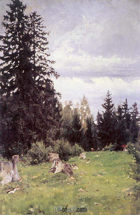 Fir Tree, 1890 | Valentin Serov | Painting Reproduction