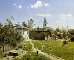 A Small Yard in Moscow, 1878 by Vasiliy Polenov | Painting Reproduction