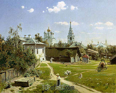 A Small Yard in Moscow, 1878 | Vasiliy Polenov | Painting Reproduction