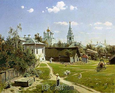 Vasiliy Polenov | A Small Yard in Moscow, 1878