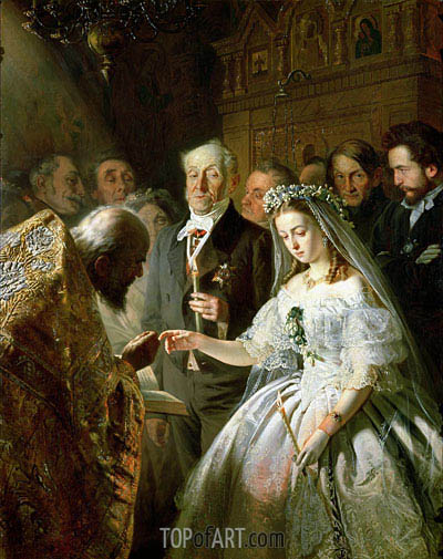 The Arranged Marriage, 1862 | Vasily Pukirev | Painting Reproduction