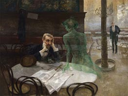 The Absinthe Drinker, 1901 by Viktor Oliva | Painting Reproduction