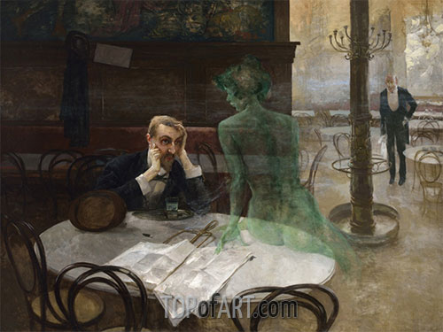 Viktor Oliva | The Absinthe Drinker, 1901
