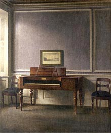 The Music Room, Undated by Hammershoi | Painting Reproduction