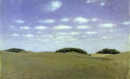 Landscape from Lejre, 1905 by Hammershoi | Painting Reproduction