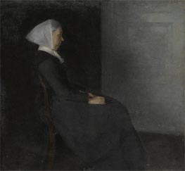 Portrait of the Artist's Mother, Undated by Hammershoi | Painting Reproduction