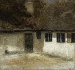 Corner of a Farm, 1883 by Hammershoi | Painting Reproduction
