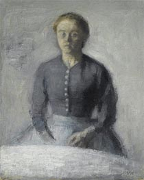 Portrait of Ida, c.1890 by Hammershoi | Painting Reproduction
