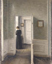 A Woman in an Interior, 1913 by Hammershoi | Painting Reproduction