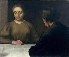 Double Portrait (The Artist and His Wife), 1898 by Hammershoi | Painting Reproduction