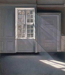 Dust Motes Dancing in the Sunbeams, 1900 by Hammershoi | Painting Reproduction
