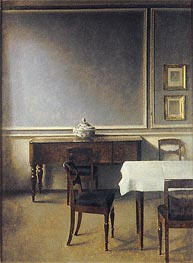 Interior with Punch Bowl, 1904 by Hammershoi | Painting Reproduction