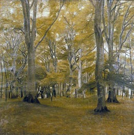 Forest Interior (The Big Trees), 1896 by Hammershoi | Painting Reproduction