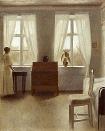In the Bedroom, Undated by Hammershoi | Painting Reproduction