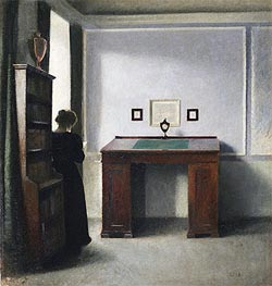 Young Woman in an Interior, 1900 by Hammershoi | Painting Reproduction