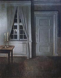 Interior with Two Candles, 1904 by Hammershoi | Painting Reproduction