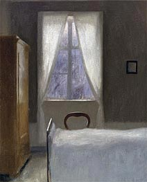 Interior, 1890 by Hammershoi | Painting Reproduction