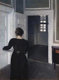 Ida in an Interior, 1904 by Hammershoi | Painting Reproduction