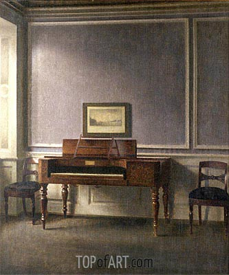 The Music Room,  | Hammershoi | Gemälde Reproduktion
