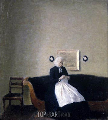 Interior with the Artist's Mother, 1889 | Hammershoi | Painting Reproduction