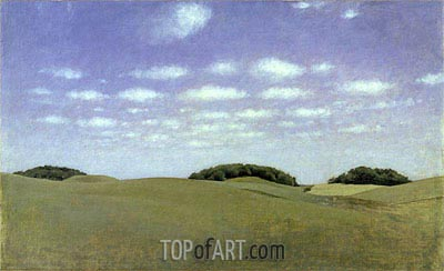 Landscape from Lejre, 1905 | Hammershoi | Painting Reproduction