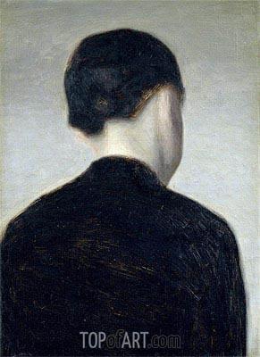 Hammershoi | Seated Figure (Anna Hammershoi), 1884