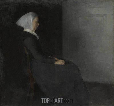Portrait of the Artist's Mother,  | Hammershoi | Gemälde Reproduktion