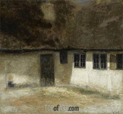Corner of a Farm, 1883 | Hammershoi| Painting Reproduction