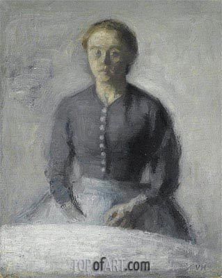 Hammershoi | Portrait of Ida, c.1890