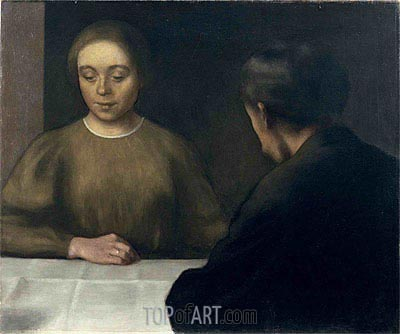 Double Portrait (The Artist and His Wife), 1898 | Hammershoi | Painting Reproduction