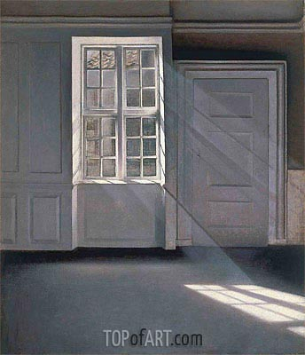 Dust Motes Dancing in the Sunbeams, 1900 | Hammershoi | Painting Reproduction