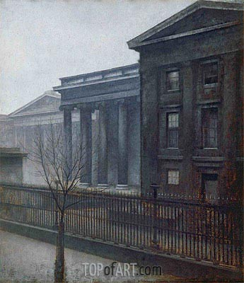 From the British Museum. Winter, 1906 | Hammershoi | Painting Reproduction