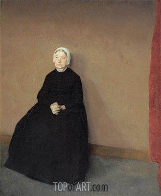 Old Woman, Seated, 1886 | Hammershoi| Painting Reproduction