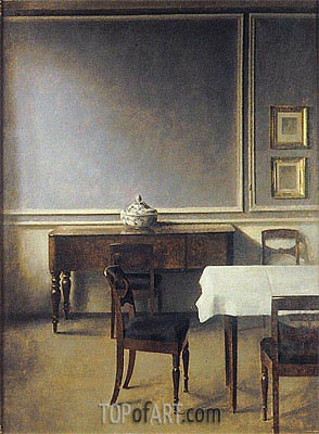 Interior with Punch Bowl, 1904 | Hammershoi | Gemälde Reproduktion
