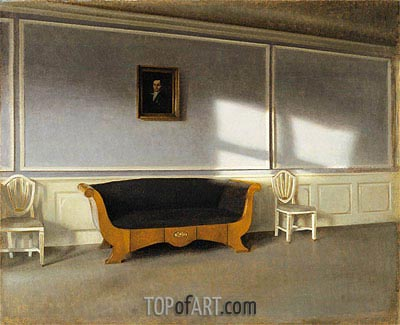 Sunshine in the Living Room III, 1903 | Hammershoi| Painting Reproduction