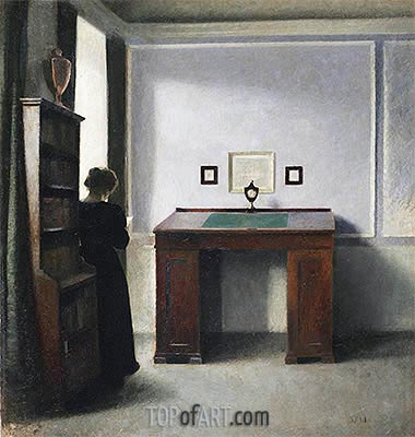 Young Woman in an Interior, 1900 | Hammershoi | Painting Reproduction