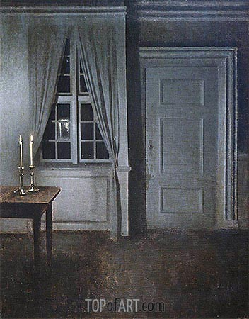 Hammershoi | Interior with Two Candles, 1904