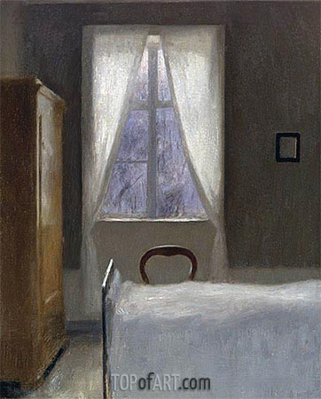 Interior, 1890 | Hammershoi | Painting Reproduction