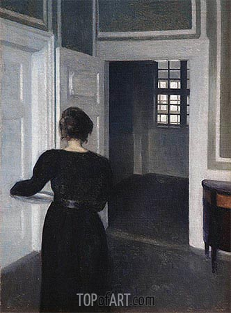 Ida in an Interior, 1904 | Hammershoi| Painting Reproduction