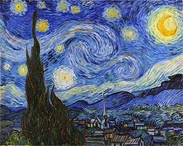 Sternennacht, 1889 von Vincent van Gogh | Gemälde-Reproduktion