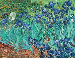 Irisblüten, 1889 von Vincent van Gogh | Gemälde-Reproduktion