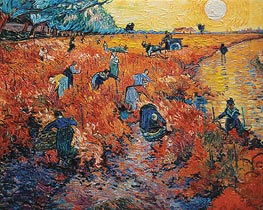 Red Vineyards at Arles, 1888 by Vincent van Gogh | Painting Reproduction