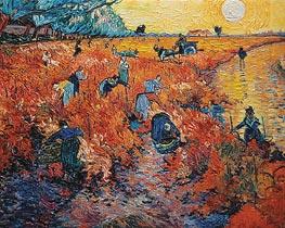 Rote Weinberge in Arles, 1888 von Vincent van Gogh | Gemälde-Reproduktion