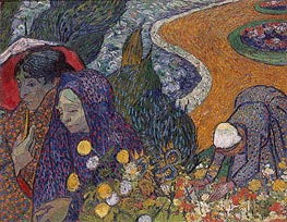 Memory of the Garden at Etten (Women of Arles), 1888 by Vincent van Gogh | Painting Reproduction