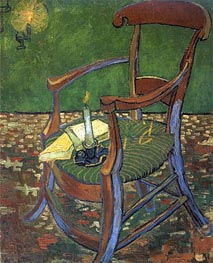 Paul Gauguin's Arm Chair, 1888 by Vincent van Gogh | Painting Reproduction