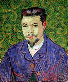 Portrait of Doctor Felix Rey, 1889 by Vincent van Gogh | Painting Reproduction