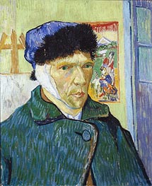 Self-Portrait with Bandaged Ear | Vincent van Gogh | Painting Reproduction