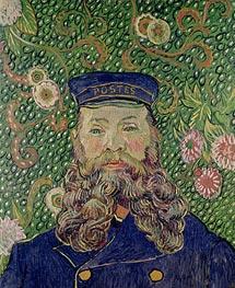 Porträt des Postboten Joseph Roulin, 1889 von Vincent van Gogh | Gemälde-Reproduktion